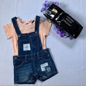 DKNY NWOT Overalls Outfit for Girls 18M